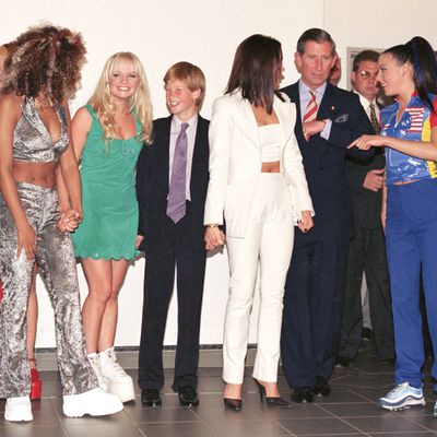 Prince Charles, Prince Harry and the Spice Girls