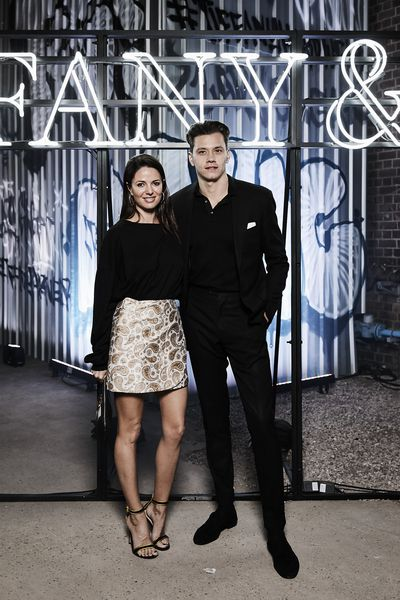 Dina Broadhurst and Jak Jarret at the Tiffany & Co. HardWare launch, Carriageworks, Sydney..