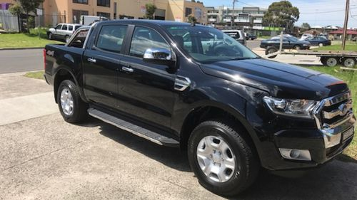 The 39-year-old purchased the new ute at Christmas. (Victoria Police)