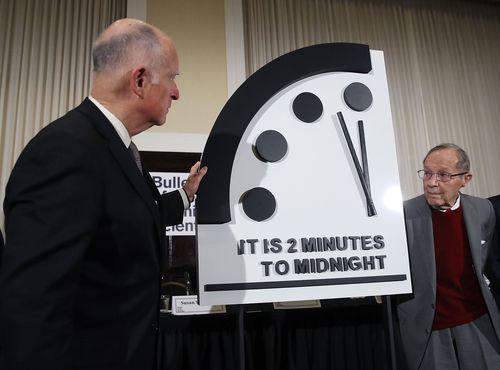 The Doomsday Clock is being reset Thursday, letting humanity know if we've inched any closer to the complete and total annihilation of the earth (well, at least metaphorically).