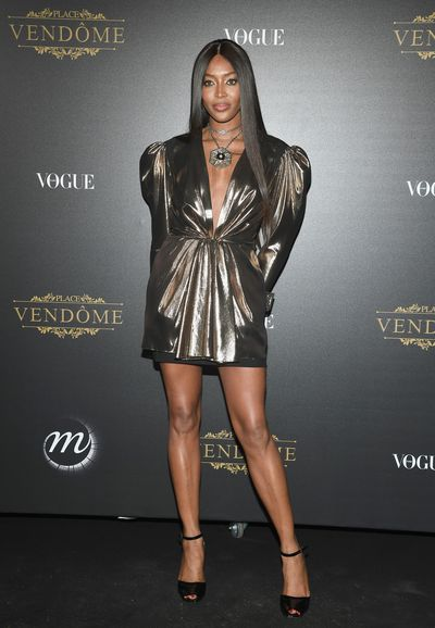 Naomi Campbell at the Vogue Party  at Le Petit Palais on October 1, 2017 in Paris.