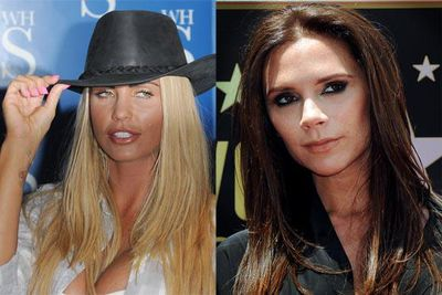 It has been an unusually long face-off between trash queen Katie Price and the global mega brand known as Victoria Beckham. <br/>As far back as 2000, Katie had accused Victoria of ruining her relationship with then-boyfriend Dane Bowers, prompting a Cold War between the two that continues to this day. <br/>Most recently, Victoria decided she'd prefer to change a flight to LA rather than share her first class cabin space - and an awkward 11 hour chat - with Katie.