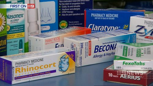 Hay fever treatments include tablets, nasal sprays and eye drops. (9NEWS)