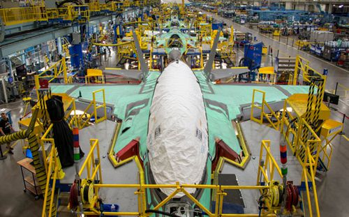 US aviation company Lockheed Martin produces the F-35 fighter for Western air forces. (AP).