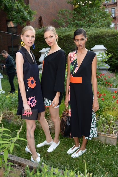 Models in the Stella McCartney Resort 2016 collection