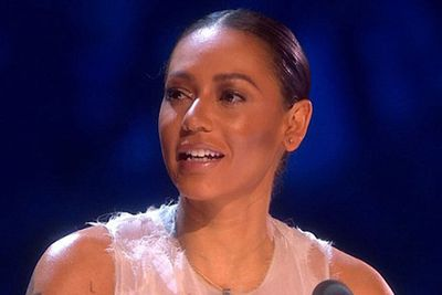 """Mel skipped Saturday's <i>X Factor</i> show and returned on Sunday with a bruised cheek.<br/><br/>When asked by host Dermot O'Leary if she was better, Mel replied: """"Yes-ish."""" She added: """"I really missed being here but thanks to all the doctors and nurses who took care of me and got me here tonight.""""<br/><br/>But viewers weren't convinced, with many accusing her husband Stephen of domestic violence. """"Has anyone noticed a bruise on Mel B's face or is it just me?"""" tweeted one fan.<br/><br/>Image: ITV"""