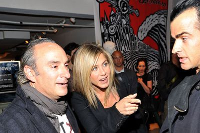 Jennifer Aniston and Justin Theroux visit Bloomingdale's in New York.