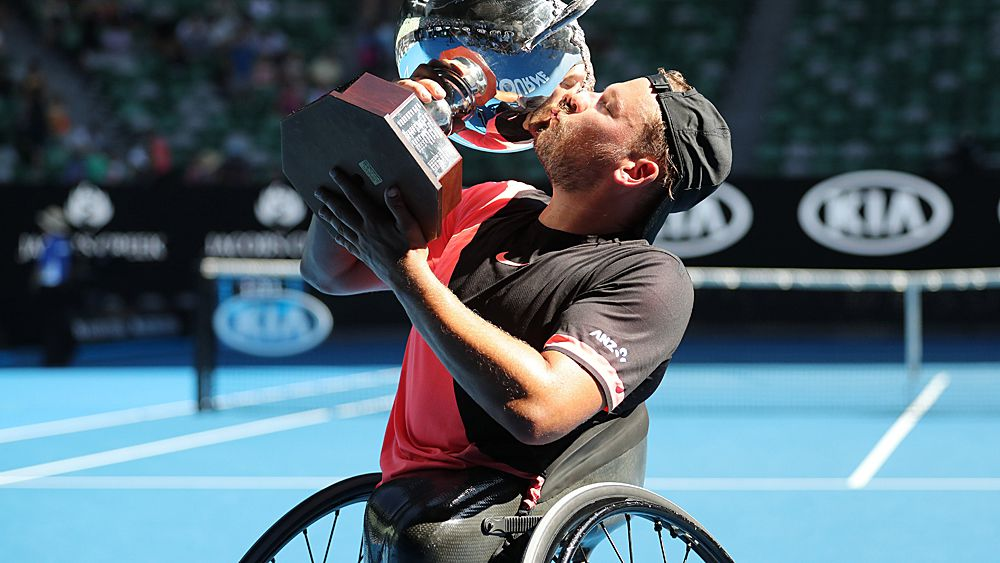 Tennis: Dylan Alcott claims fourth-straight Australian Open title