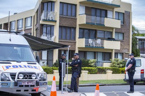 People have been locked out of their homes in the block of units. Picture: AAP