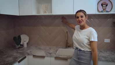 The Block's El'ise gives a tour of her newly renovated laundry