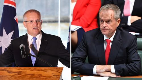 News politics Australia Federal election Scott Morrison Bill Shorten campaign ad spending