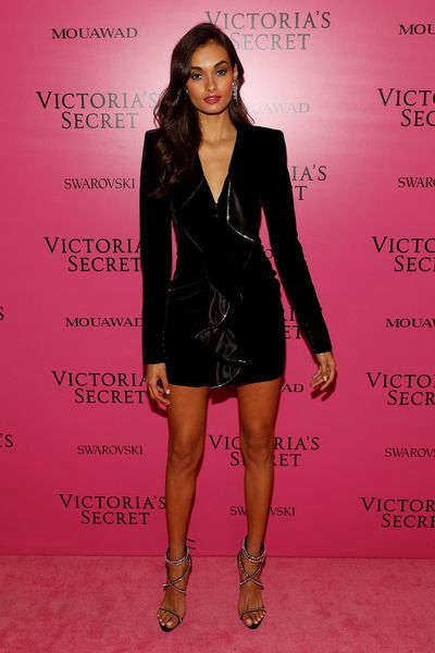 Gizele Oliveira in Saint Laurent at the 2017 Victoria's Secret Fashion Show After Party