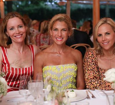 Actress Leslie Mann, Jessica Seinfeld and Tory Burch at the Net-a-porter x GOOD + Foundation summer 2018 dinner at the Seinfeld's estate.<br> <br> <br>