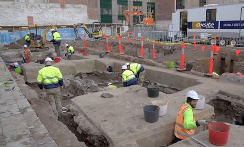 Archaeologists expect to uncover more than one million artifacts as they continue to filter their way through various layers of underground fill.