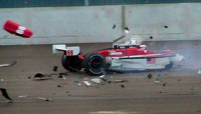 Alex Zanardi lost both legs in this horrific IndyCar crash in Germany in 2001