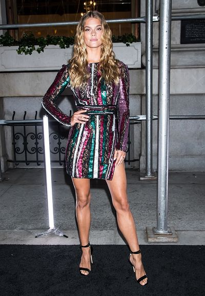 Model Nina Agdal at the Harper's Bazaar Icons party in New York, September, 2018