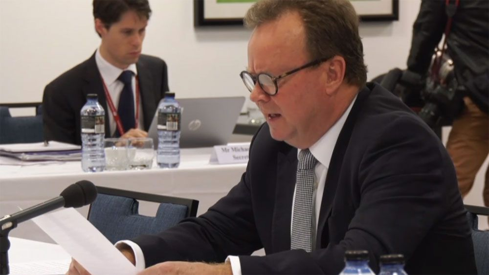 ARU chief Bill Pulver fronts a senate inquiry in Perth.