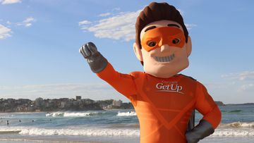 Captain GetUp was created by a conservative action group to parody the left-wing campaign activists.