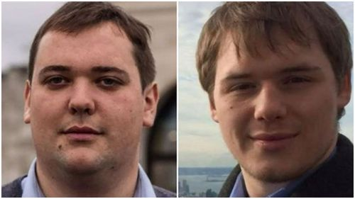 William Cousins (L), 25, died alongside his brother, Edward Cousins, 23. (9NEWS)