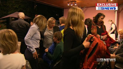 Guests began to leave after Ms Anderson's intervention. Picture: 9NEWS