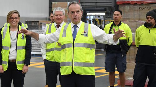 Labor leader Bill Shorten has vowed a Labor government would restore penalty rates in its first 100 days.