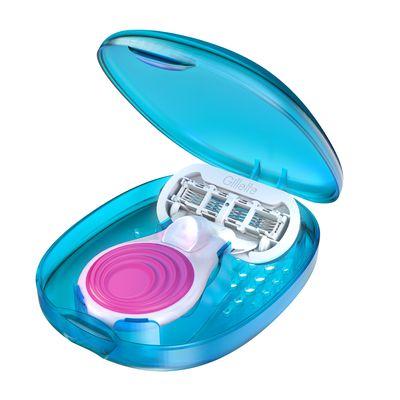 "<a href=""http://www.gillettevenus.com.au/en-au/shaving-products/womens-razor-collections/venus-embrace-razors/venus-snap-with-embrace"" target=""_blank"">Gillette Venus</a> Snap with Embrace, $15.99."