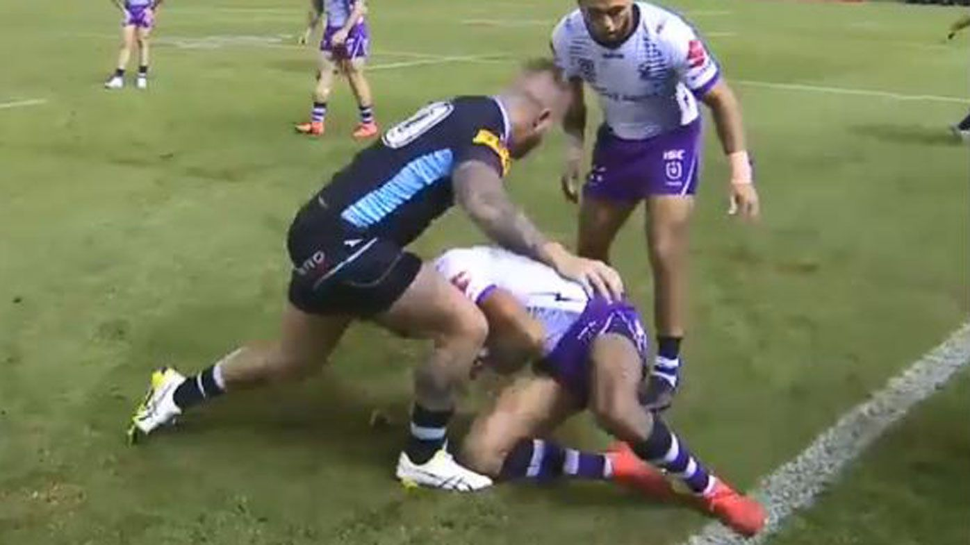 NRL officials botch long-standing, little-used play-the-ball rule in Sharks vs Storm