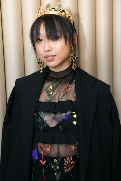 Margaret Zhang in Christien Nicolaides crown