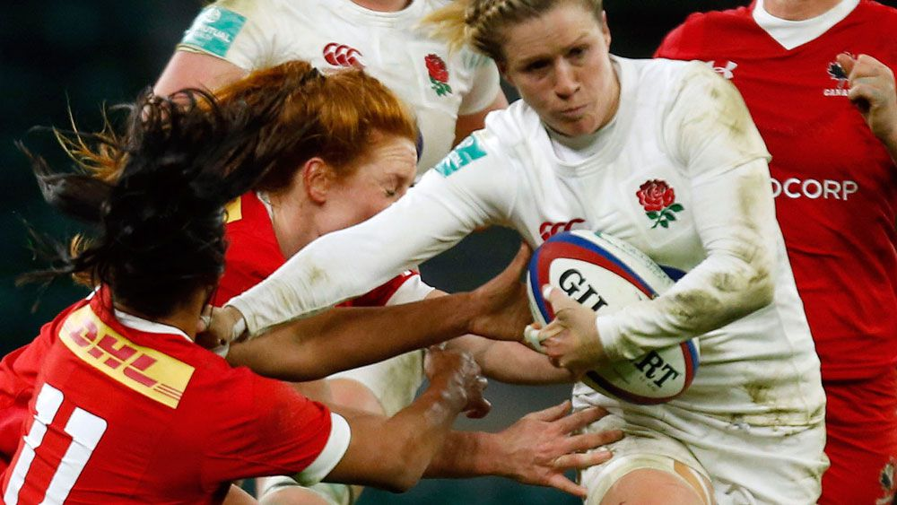 English women's rugby player scored stunning try