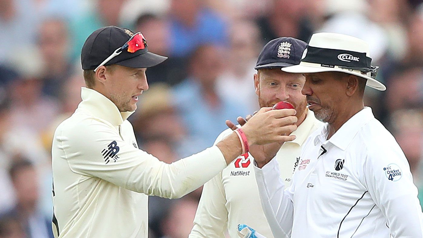 Pattinson hits six into beer cup, comical sniff-test leads to England ball change