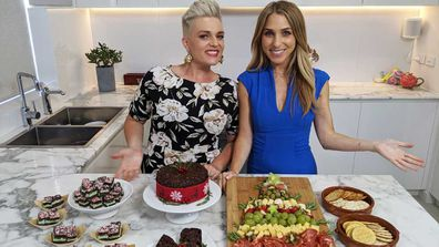 Jane de Graaff and Britt Cohen do easy Christmas cheats for Today Extra