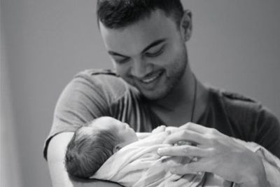 Guy Sebastian became a doting dad to son, Hudson, in March.