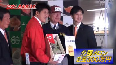 Japanese melons fetch record $36,000 at auction