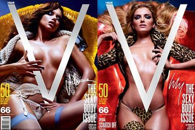 Beauties Adriana Lima, Lily Donaldson, Eniko Mihalik, Isabeli Fontana and Natasha Poly became instant scratch-its when they appeared in a special issue of <i>V Magazine</i> with nothing more than a scratchable V covering their best bits.