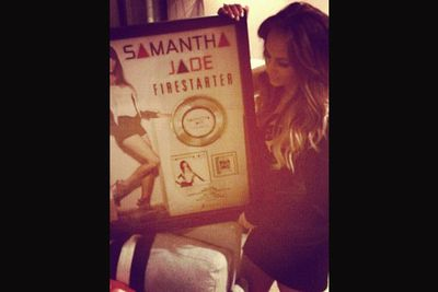 @samantha_jade_music: #Firestarter is platinum ! Thank you so much for your endless support :) it means everything to me #grateful