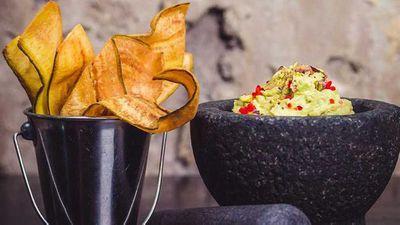 "Recipe: <a href=""http://kitchen.nine.com.au/2017/09/15/15/14/mejicos-pea-and-wasabi-smashed-guacamole"" target=""_top"">Mejico's pea and wasabi smashed guacamole</a><br> <br>"