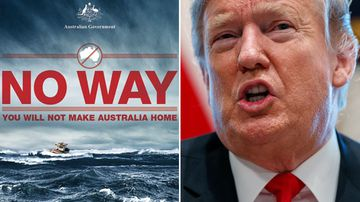 2014 Australian immigration poster and Donald Trump