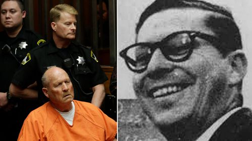 Joseph James DeAngelo, left, has been charged with the 1975 murder of  Claude Snelling.