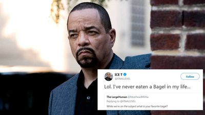 Ice-T announces he's never eaten a bagel before
