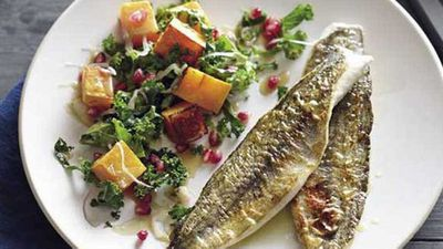 Pete Evans' pan-fried whiting with pumpkin and kale salad
