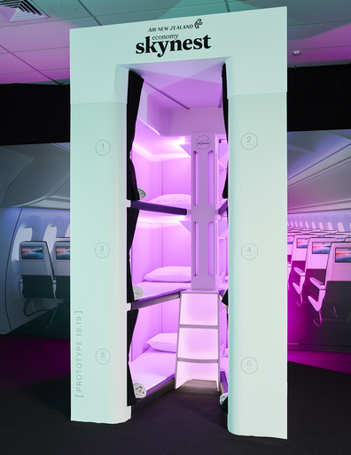Air New Zealand Economy Skynest sleeping pods prototype