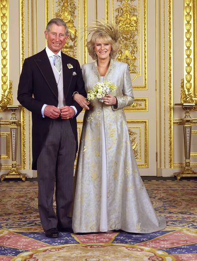 Prince Charles and Camilla Parker Bowles on their wedding day in  2005.