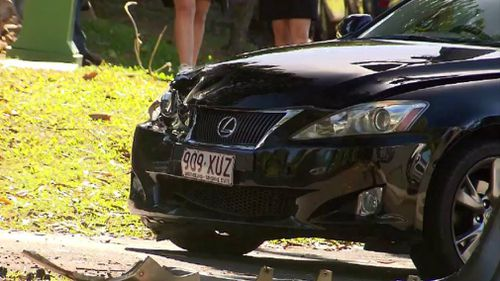 The Lexus is believed to have been stolen. Picture: 9NEWS