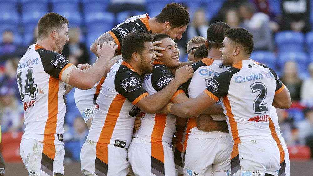 Wests Tigers swat away Newcastle Knights and wooden spoon with emphatic win