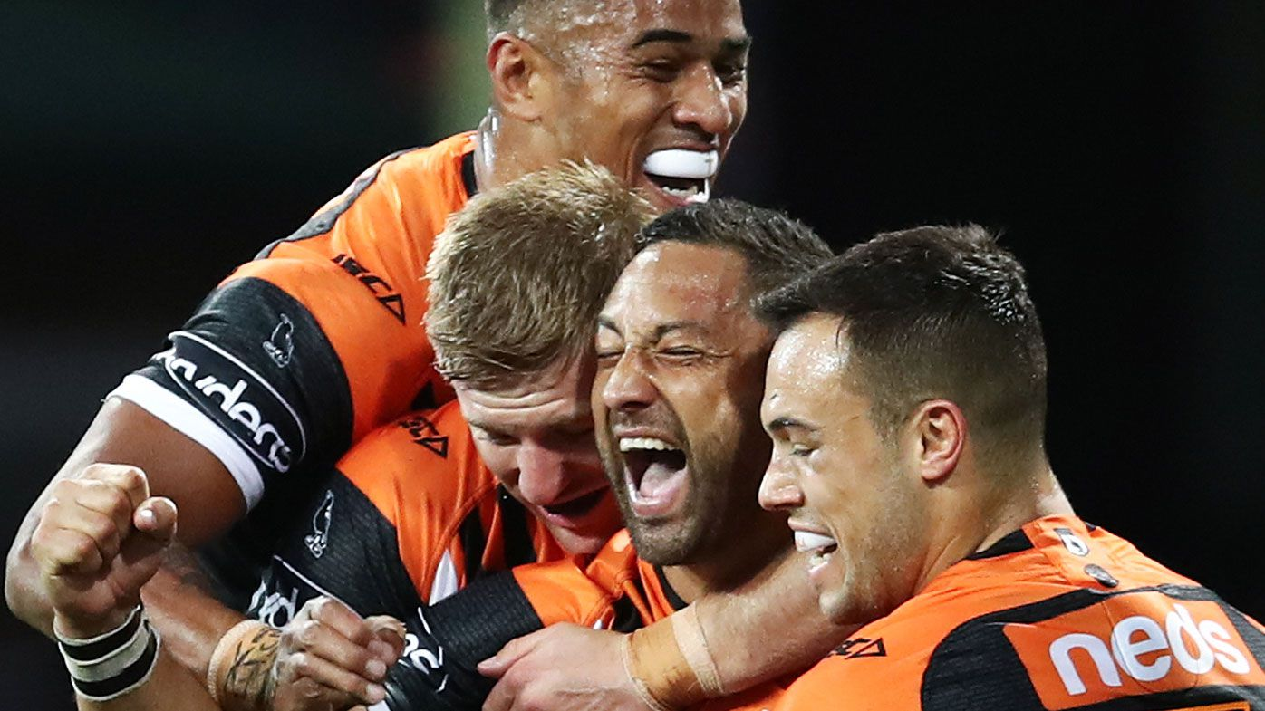 Tigers one win away from ending finals curse after Dragons drubbing