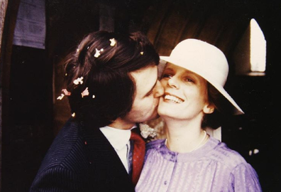 On their wedding day in 1980 in the UK where Turnbull was attending university.