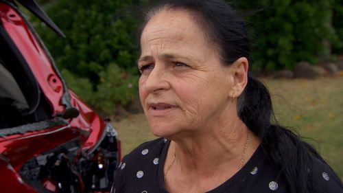 Debbie Hall was on her way to work west of Brisbane when, she says, a four-wheel drive rammed her Mazda from behind.
