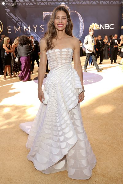 Actress Jessica Biel, inRalph & Russo FW18 Couture, at the 70th Emmy Awards