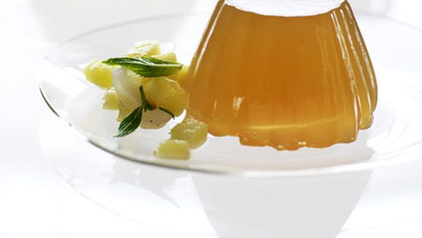 Lychee, ginger and lemongrass jellies