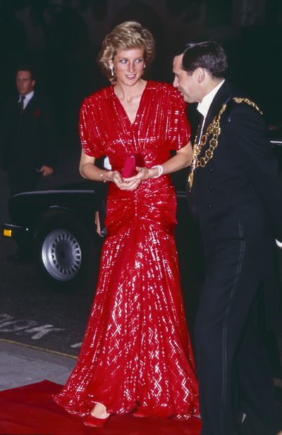 Diana, Princess of Wales at the 1989 the Premiere of <em>When Harry met Sally.</em>